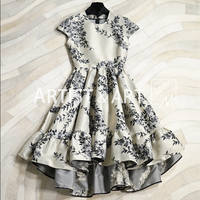 Svoryxiu High End Custom Party Dress Women's Elegant Vintage Jacquard Slim Runway Dresses Autumn