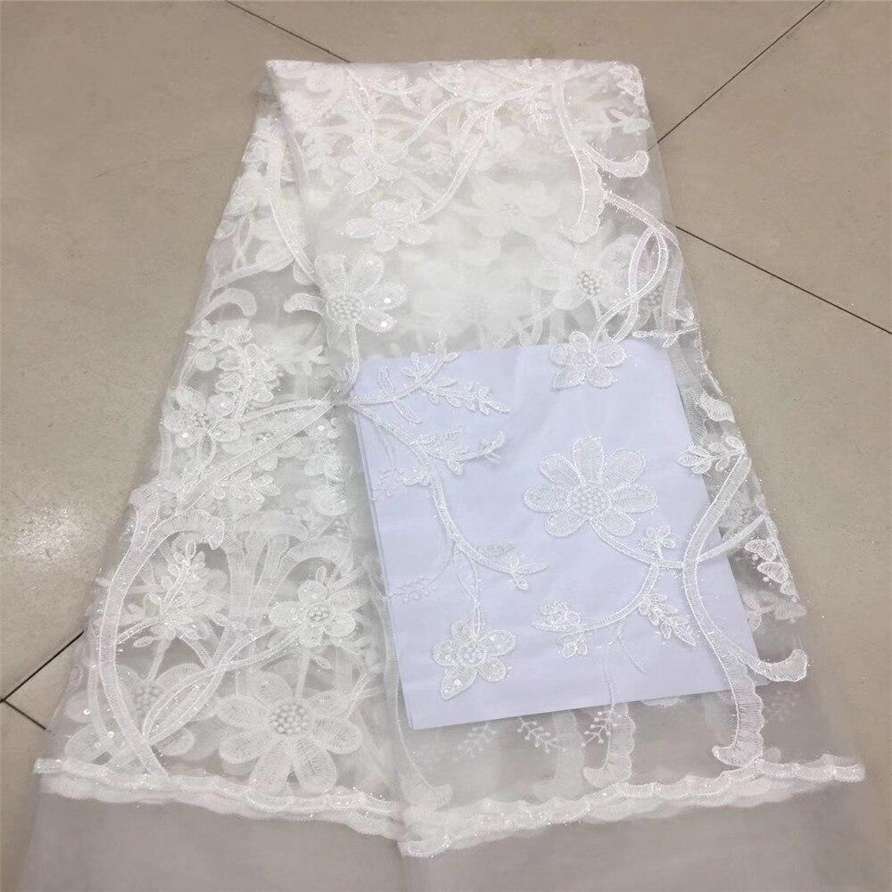 Amour merci dentelle femmes blanc Sequin français mariage broderie dentelle tissu X52-1