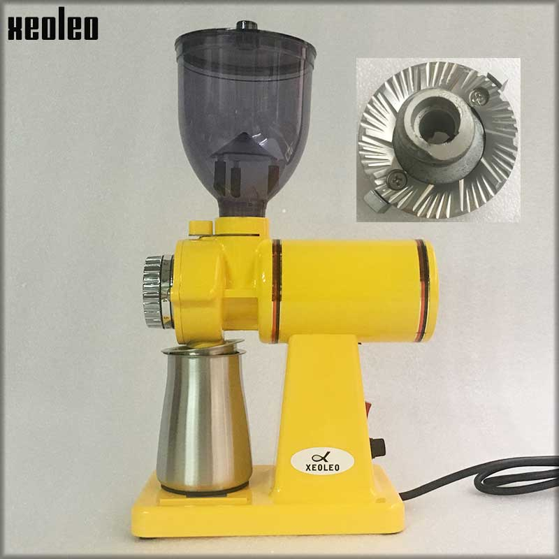 XEOLEO 60mm Conical Burr Coffee Grinder 150W Electric Coffee grinder Household Coffee miller White/black 250g Milling machine xeoleo electric coffee grinder commercial