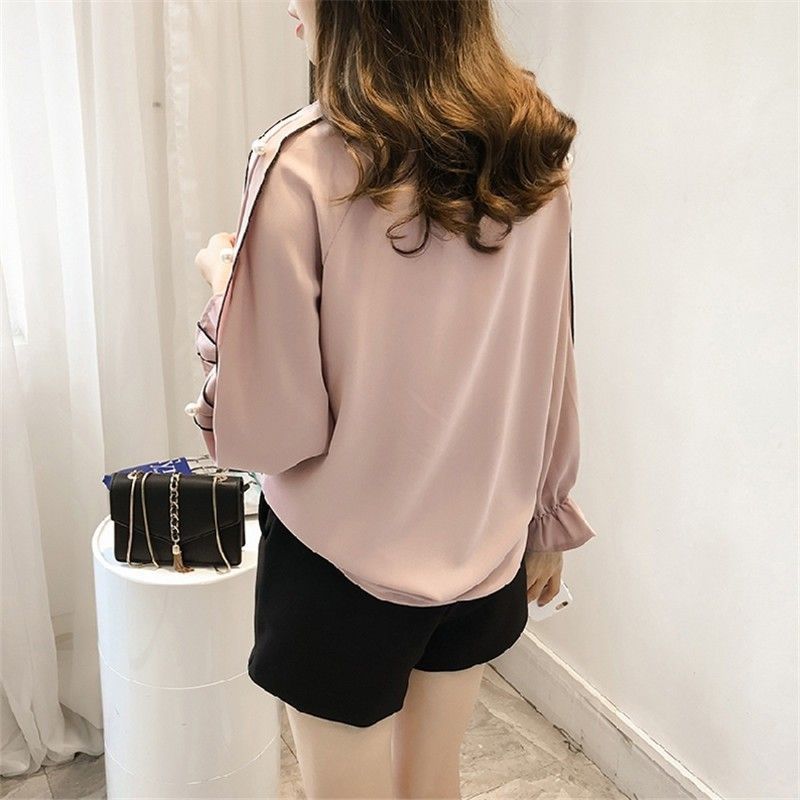 HTB1gjPxOFXXXXbxapXXq6xXFXXXD - Chiffon Blouses Plus Size M-4XL Korean Women Long Sleeve