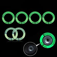 цена на Universal Night Vision Fluorescence Sticker Fit Luminous Ignition Engine Start Cover Key Hole Ring Decal Sticker Tip
