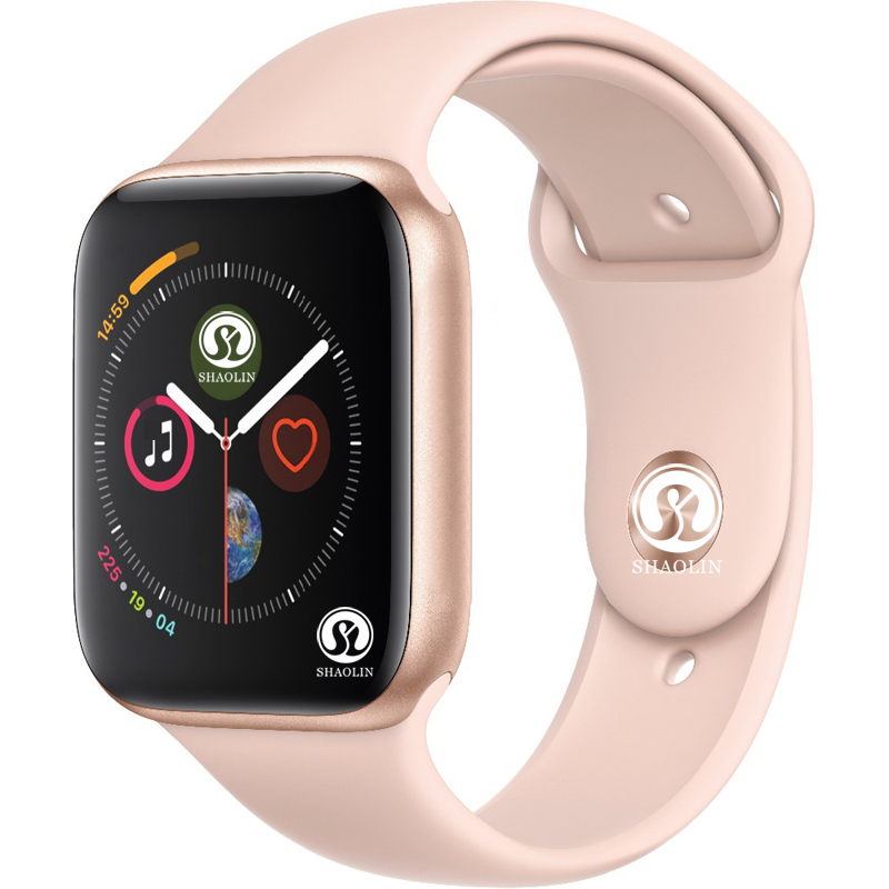 Montre intelligente en or ROSE série 4 montre intelligente Sport 42mm horloge pour apple iphone 6s 7 8 X plus pour samsung montre intelligente femmes honor 3