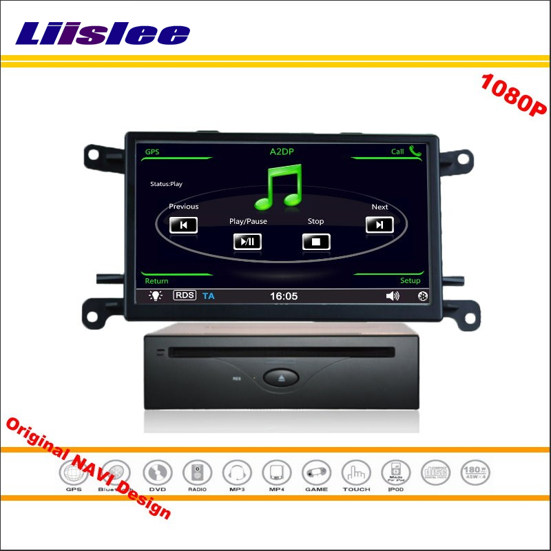 Liislee для Audi A4/Q5 2009 ~ 2016-стерео Радио CD dvd-плеер GPS nav Navi навигации HD Экран Системы оригинал с AUX