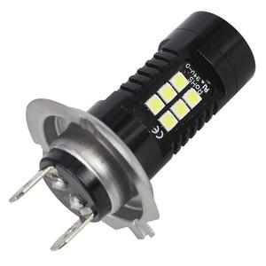 Image 4 - 2Pcs LED ערפל לרכב 12V DC H7 3030 21 LED אורות לבן 6500K רכב ערפל ראש אור מנורת פנס אור נורות עבור מכוניות