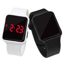 Спортивные цифровые часы для мужчин и женщин, армейские фитнес-часы со светодиодным дисплеем с датой и квадратным циферблатом, силиконовый браслет, электронные детские часы для мальчиков