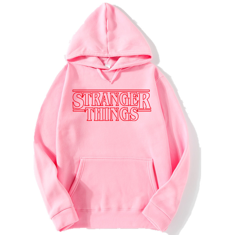 Trendy Faces New Season Stranger Things Hooded Men Women Hoodies Sweatshirts Letter Print Long Sleeve Hip Hop Cotton Hoody