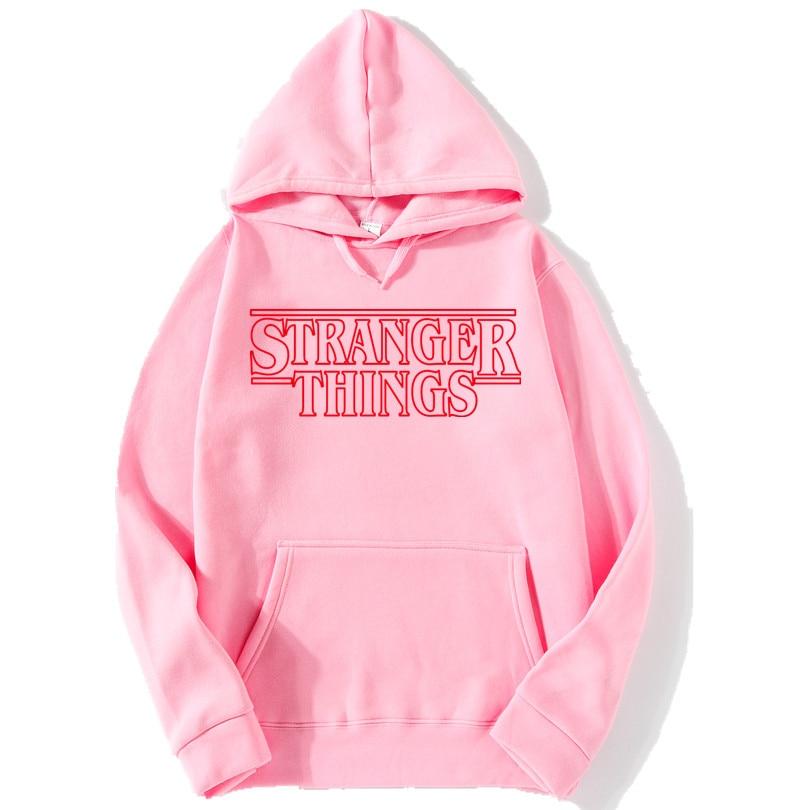 Trendy Faces New Season Stranger Things Hooded Men Women Hoodies Sweatshirts Letter Print Long Sleeve Hip Hop Cotton Hoody