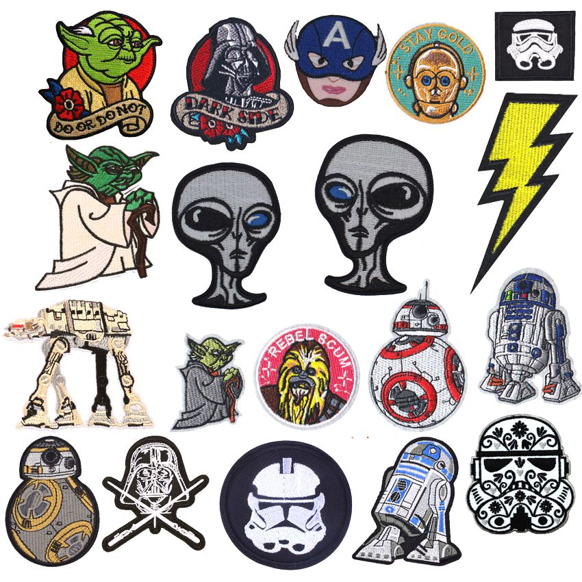 Fastest shipping star wars patches for clothing in Hairs