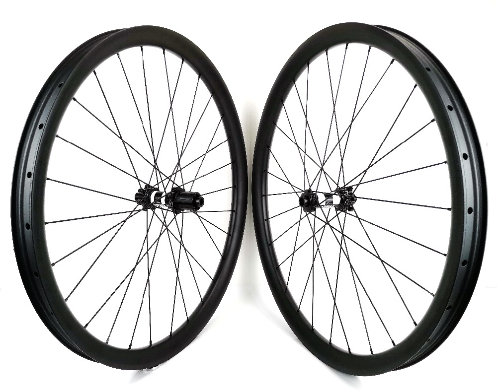 Free shipping 27.5er tubeless mountain bike carbon wheels 40mm width 30mm depth MTB DH carbon wheelset with UD matte finish