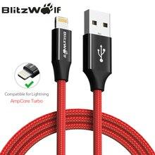 BlitzWolf MFI для Lightning Кабель для iPhone 0,9 м 1,8 м Мобильный телефон USB зарядное устройство зарядный кабель для iPhone X XS 8 + для iPad
