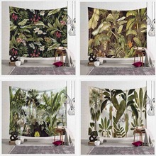 Green Plants Hanging Wall Tapestries Mandala Bohemian Tapestry Landscape Wallpaper Wall Art Cloth Lint Beach Towel DropShipping