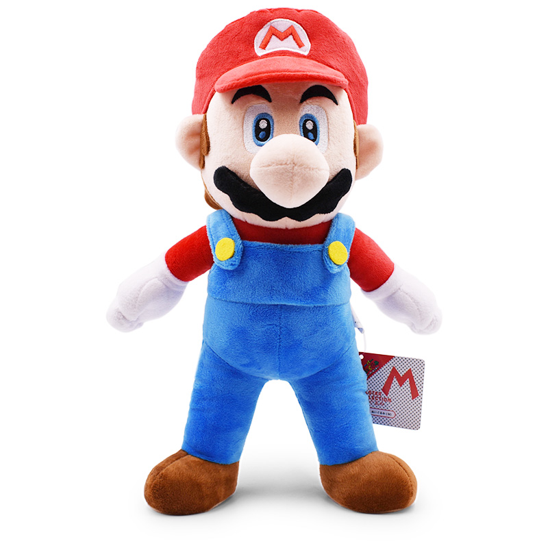 """Big Size 15""""37cm Red Super Mario Bros Standing Supermario Plush Dolls Toy Stuffed Soft Peluche Doll Kids Gifts Free Shipping 1"""