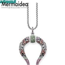 aec431757715 Colgantes de mitología de dragón chino collares de moda de Plata de Ley 925  joyería de moda de regalo para hombres y mujeres joy.
