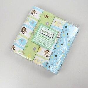 Image 2 - 2020 neue Verkauf Baby Decke Cobertor Bettwäsche Set Baby 100% Weich Und Bequem Neugeborenen Blätter 4 Zählen Flanell Erhalten Decken