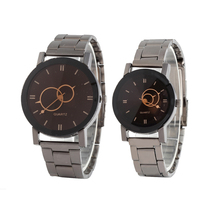 Couple watch men and women Different sizes retro fashion quartz Fashion ladies watch clock,Gun color steel strap Feminino цены онлайн