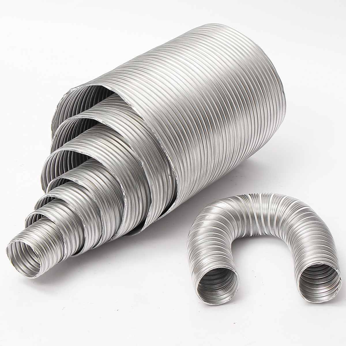 Aluminum Flexible 1M Length 80mm Diameter Exhaust Air Vent Pipe Duct Aluminium Foil Ducting Hose Ventilation