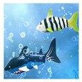 Mini elétrico recarregável controle remoto peixe tubarão mergulho brinquedos de controle remoto para crianças brincando nos brinquedos de água 1.3