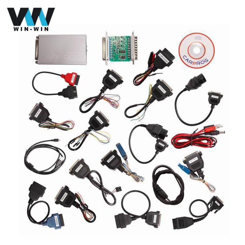 imágenes para Venta caliente CARPROG V10.05 Herramienta ECU Chip Tuning para Coches Odómetros de Las Radios Dashboards Inmovilizadores Con adaptador Completo Airbag Restablecer