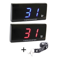 Universal Water Temp Gauge Motorcycle Accessories Black Cover Water Temperature Meter For Racing And Scooter