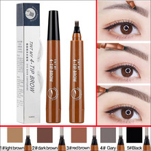 Microblading Eyebrow ปากกากันน้ำ eyebrow shaping Eyebrow Tattoo Pencil henna eyebrow easy wear แต่งหน้า Liquid Eye Brow ปากกา(China)