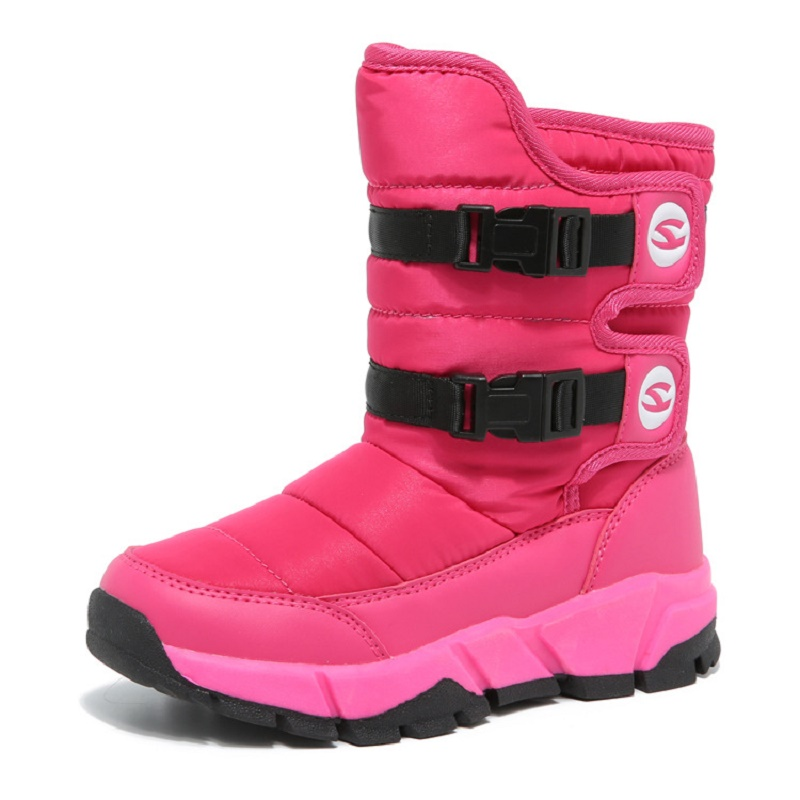 2018 Snowboots Girls Anti-slip Winter Children Shoes Girls Boots Plush Mid-Calf Warm Shoes Girls Kids Winter Boots for Boys