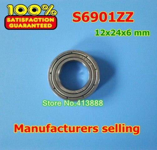 Высокое качество нержавеющая сталь подшипника SS6901ZZ S6901-2Z 6901 S6901 S6901Z S6901ZZ S61901ZZ 12*24*6 мм 440C материал
