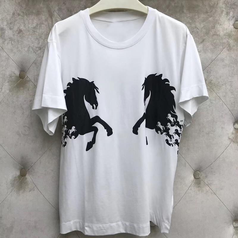 De 2019 Shirt Mode Décontracté Noir shirt blanc Femelle D'été Rouge Simple Chemise Chemises Pour Femmes Imprimer T Tee T Vêtements corail wpBq0Iw