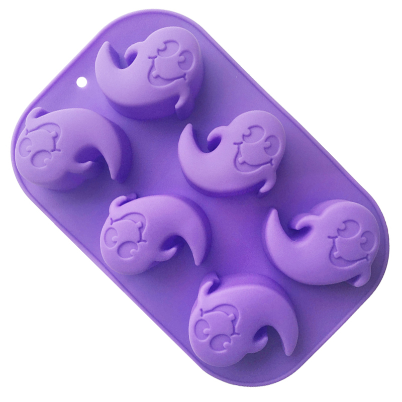 e05030ddd Silicone Cake Moulds Ghost Shaped DIY Purple Silicone Chocolate Home Baking  Mould FDA Kitchen Bakeware