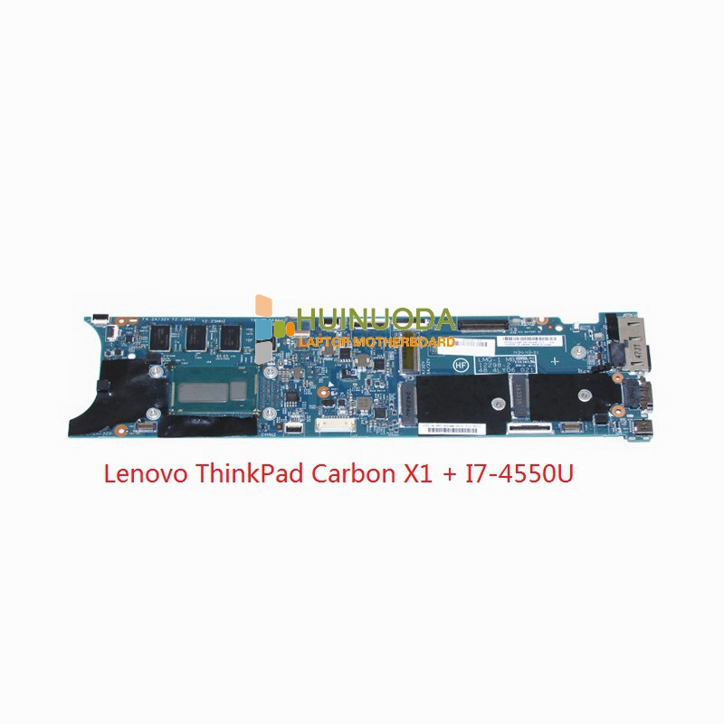 for Lenovo ThinkPad Carbon X1 Intel Laptop Motherboard 00HN767 LMQ-1 MB 12298-2 48.4LY06.021 CPU I7-4550U SR16J Mainboard for lenovo thinkpad x200 intel gm45 motherboard 43y9980 48 47q06 031 intel gma x4500