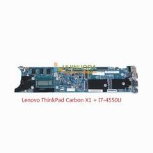 for Lenovo ThinkPad Carbon X1 Intel Laptop Motherboard 00HN767 LMQ-1 MB 12298-2 48.4LY06.021 CPU I7-4550U SR16J Mainboard
