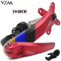 VXM 104BCD Crank alloy aluminum MTB Bike crank suit sprocket set 68BB folding Bike refitting for XT M610 M590 MTB Bicycle Parts