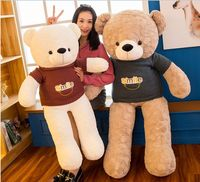 stuffed plush toy huge 135cm smile sweater teddy bear soft doll hugging pillow Christmas gift s2427