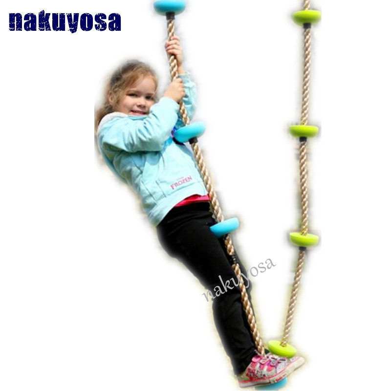 hot toys Children Kids Five Knotted Disc Climbing PP Rope Baby Garden Playground Backyard Outdoor Games Equipment Toys