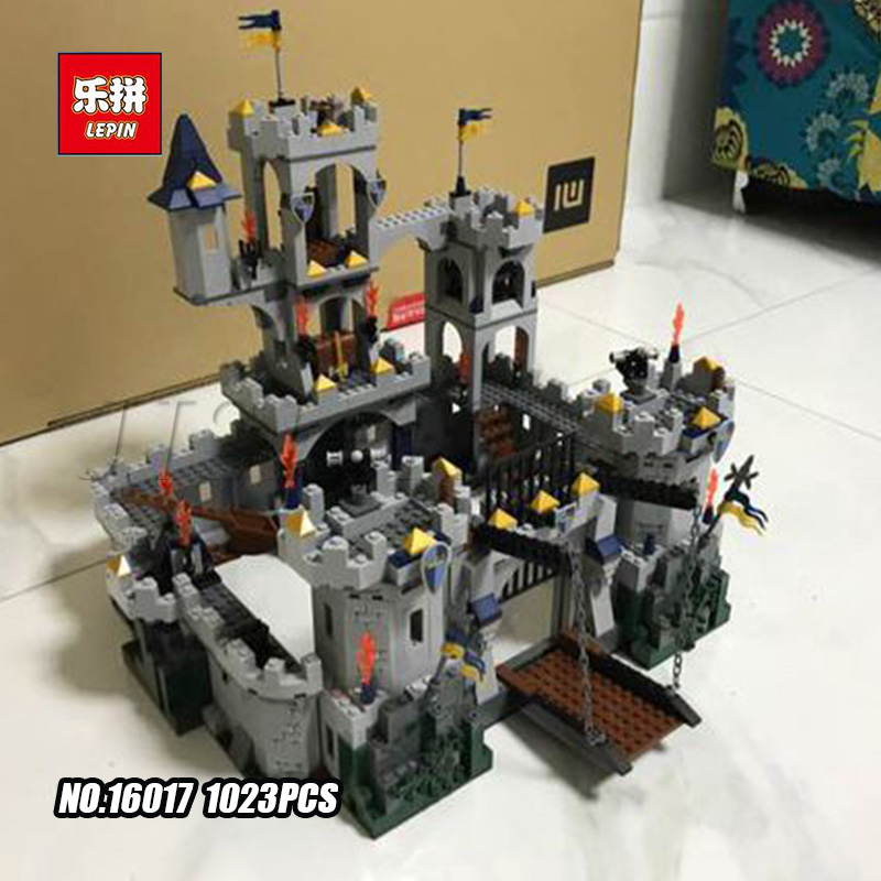 Lepin 16017 Series Castle Series The King`s Castle Siege Set Children Educational Building Blocks Bricks Toys Model Gifts 7094 new lepin 16008 cinderella princess castle city model building block kid educational toys for children gift compatible 71040