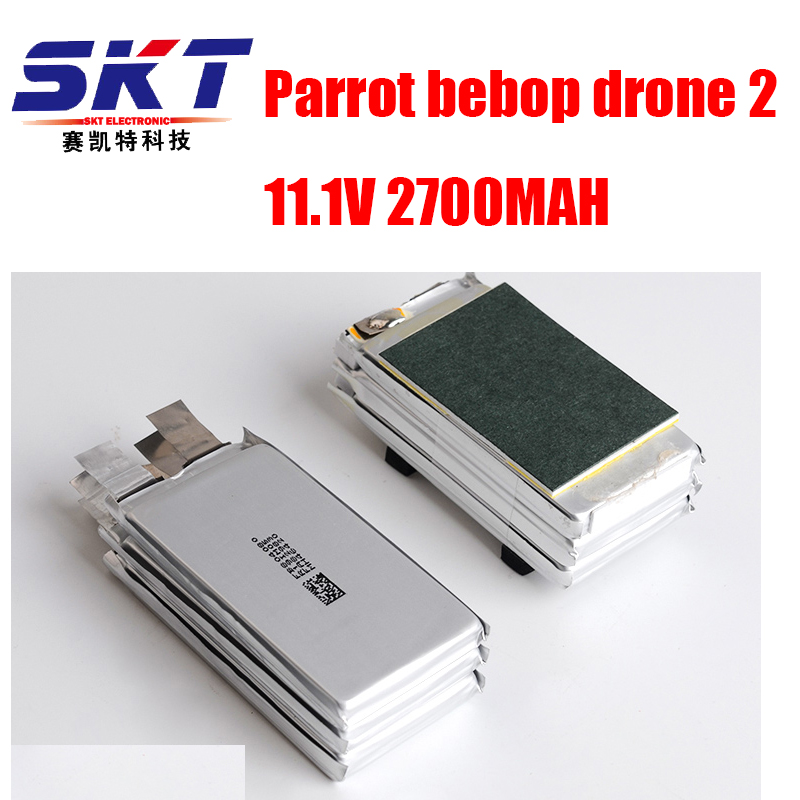 DXF New Arrived Parrot Bebop 2 Drone 11.1V 2700 mah Lipo Battery replacement core For RC Quadcopter Parts Free Shipping 2pcs high quality 4s full 5400mah 14 8v 79 92wh replacement lipo battery for yuneec typhoon h drone rc quadcopter