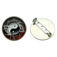 Taichi Yin And Yang Brooch Pins Glass Cabochon Stainless Steel Women Fashion Brooches Gifts Dropshipping Supplier