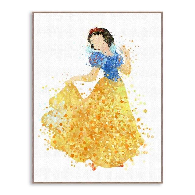 Online Shop Modern Princess Cinderella Snow Cartoon Pop Movie Canvas ...