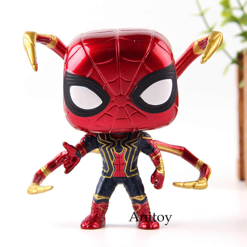 Bobble Head Marvel Avengers Infinity War Spiderman Iron Spider Action Figure Collectible Model Toys with Retail Box