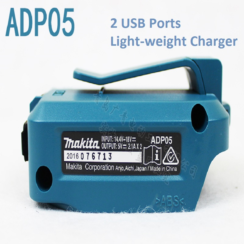 Japan Makita Power Tools Battery Charger Adapter for All 12V/14.4V/18V Li-ion Batteries with USB Port eleoption 2pcs 18v 3000mah li ion power tools battery for hitachi drill bcl1815 bcl1830 ebm1830 327730