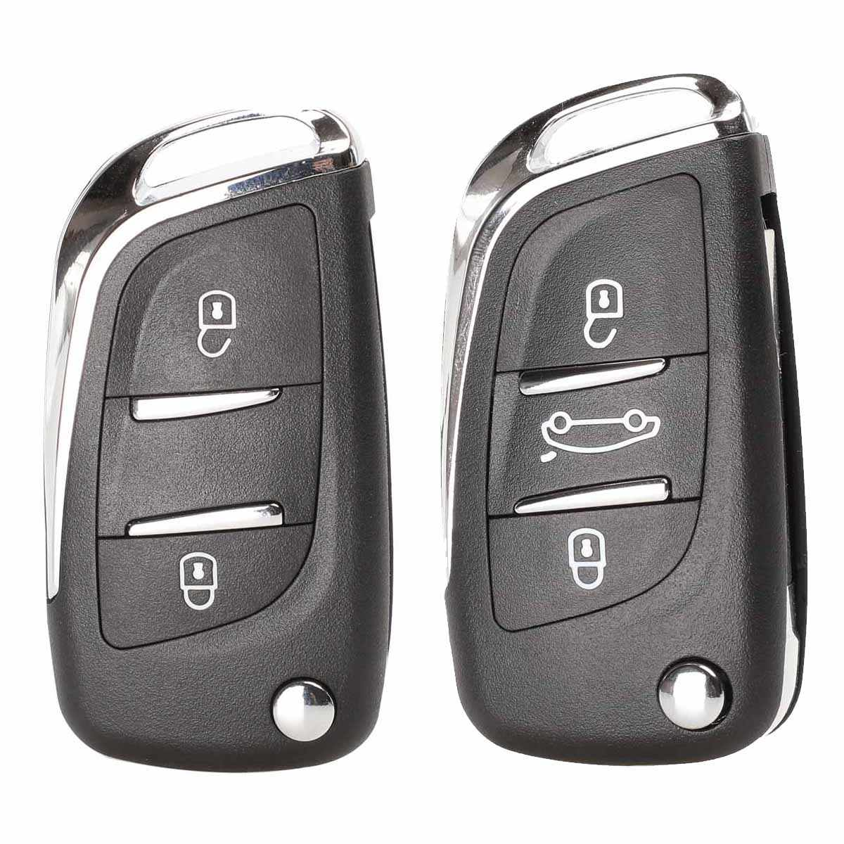Jingyuqin พับรีโมทกุญแจรถ CE0536 สำหรับ Peugeot 407 307 408 308 CITROEN C2 C3 C4 C5 C6 XSARA GRAND PICASSO Groove