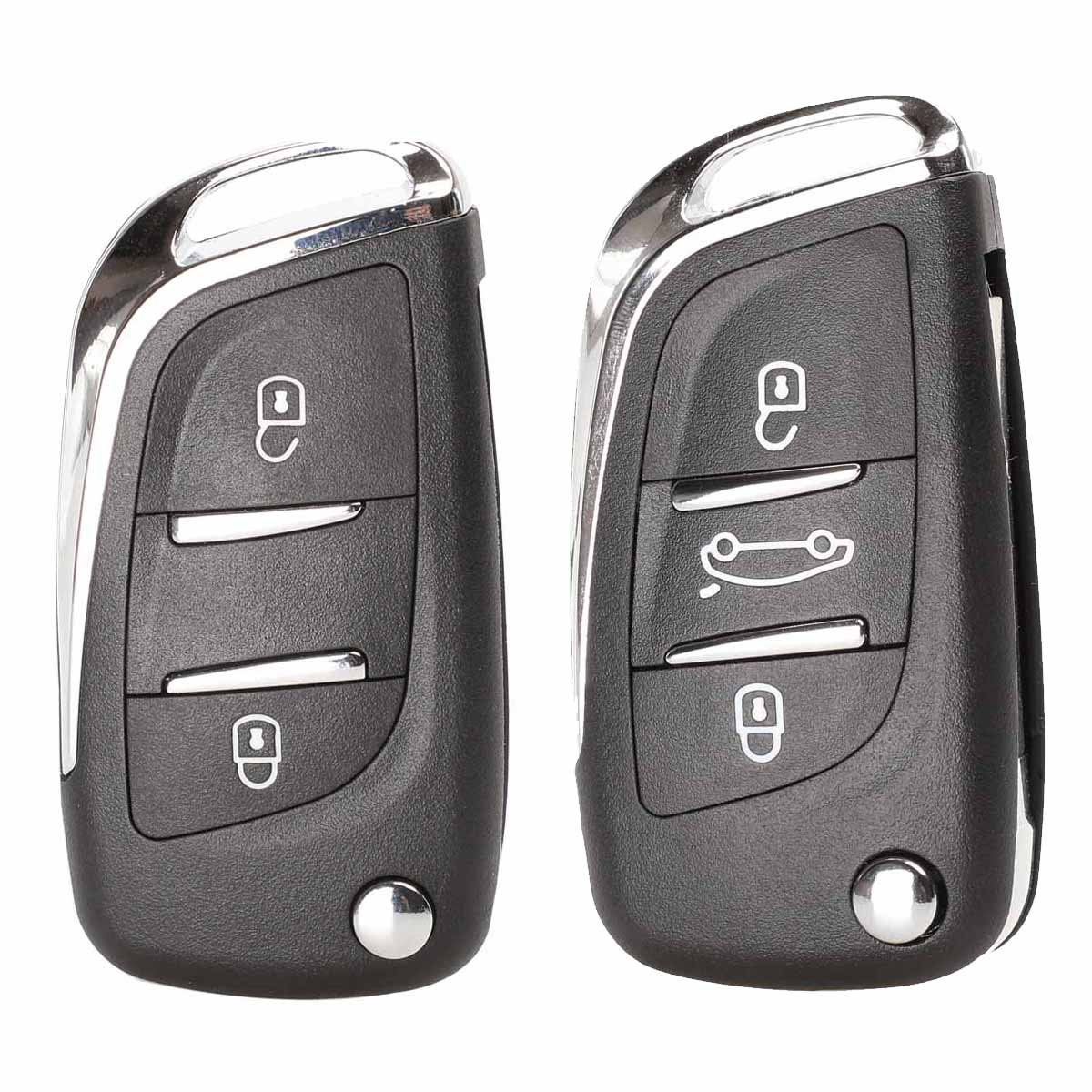 Jingyuqin Folding Flip Remote Car Key Shell CE0536 For Peugeot 407 307 408 308 CITROEN C2 C3 C4 C5 C6 XSARA GRAND PICASSO Groove