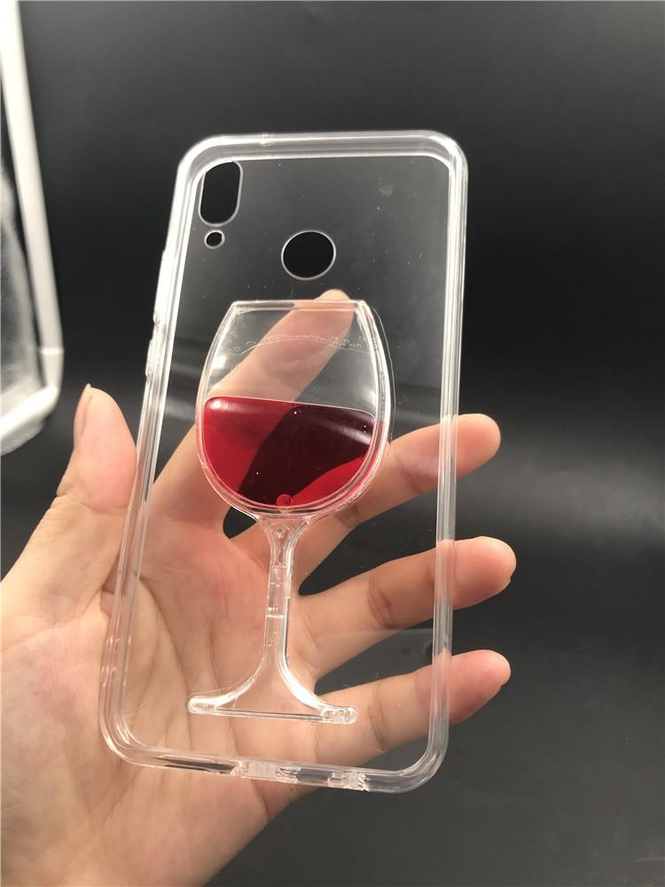 Flowing Liquid Red Wine Glass Cup Capa Case for XiaoMi Redmi Note 7/6 Pro/Note 5/4/4X/3 Mi 9/8/8 SE/8 Lite Mi A1/A2/A2 Lite gift for boyfriend on anniversary
