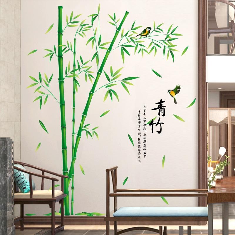 [SHIJUEHEZI] Bamboo Πουλιών Αυτοκόλλητες - Διακόσμηση σπιτιού - Φωτογραφία 3