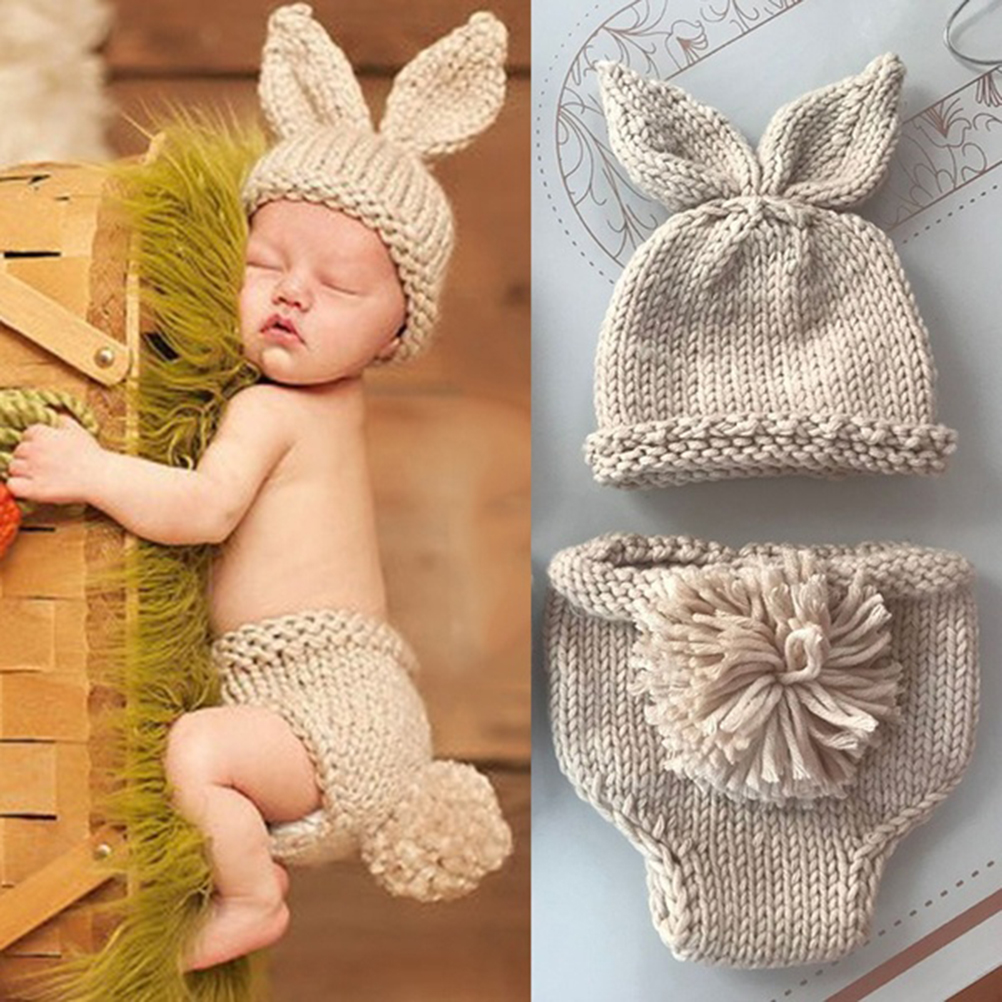 Newborn Baby Photography Props Infant Boy Girl Knitted Photo Outfits newborn photo accessories toddler girl cap bonnet baby hats|Hats & Caps|   - AliExpress