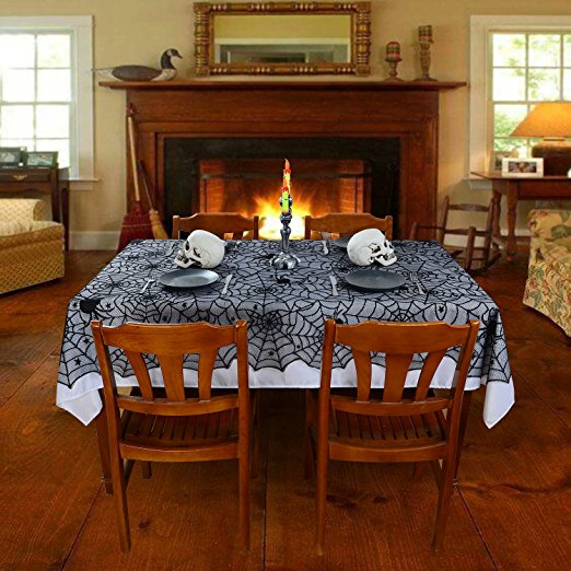Fireplace Halloween Decorations: Aliexpress.com : Buy Black Spider Web Halloween Tablecloth