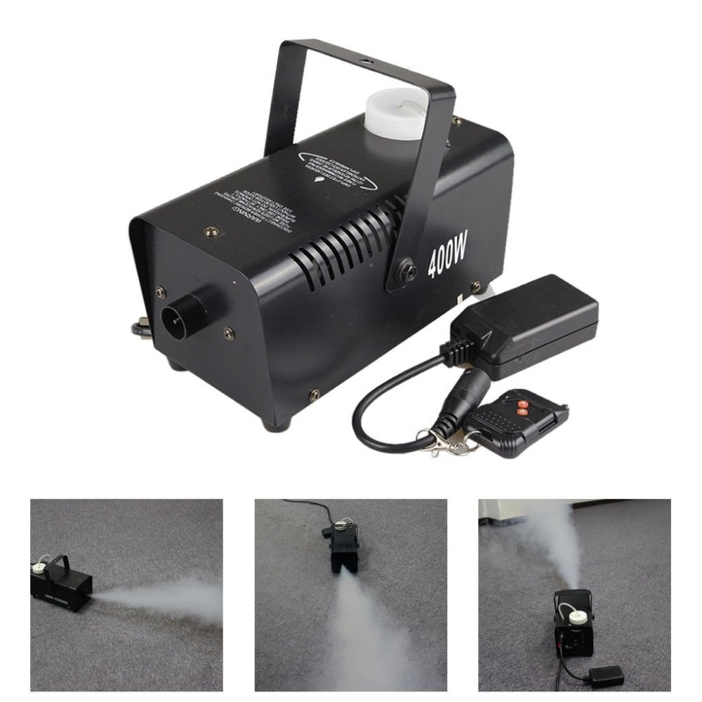 цена на AUCD Mini 400W White Smoke Remote Control Smoke Fog Machine Stage Light Effect W400