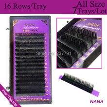 7cases 0 07 0 25 J B D C 7 15mm natural Eyelashes extension mink eyelashes