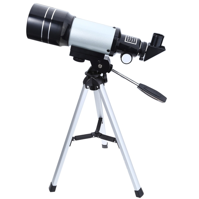 US $36 86 |2019 F30070M New Space Astronomical Telescope Monocular  Professional with Aluminum Tripod Barlow Lens Eyepiece Moon Filter -in