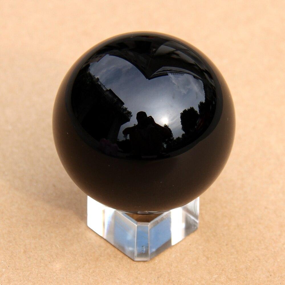 ᗜ Ljഃ50 мм черный обсидиан натуральный полированный шара ...