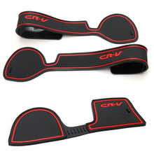 Anti-Slip Gate Car Door Groove Mat Slot in Latex For CRV 2008, 2009, 2010